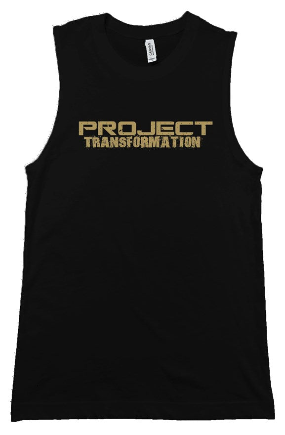PT Work Out Her Way Muscle Shirt Black/ gold design