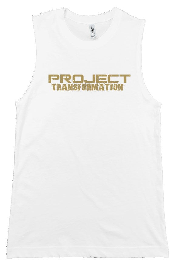 PT Work Out Her Way Muscle Shirt White/ gold design