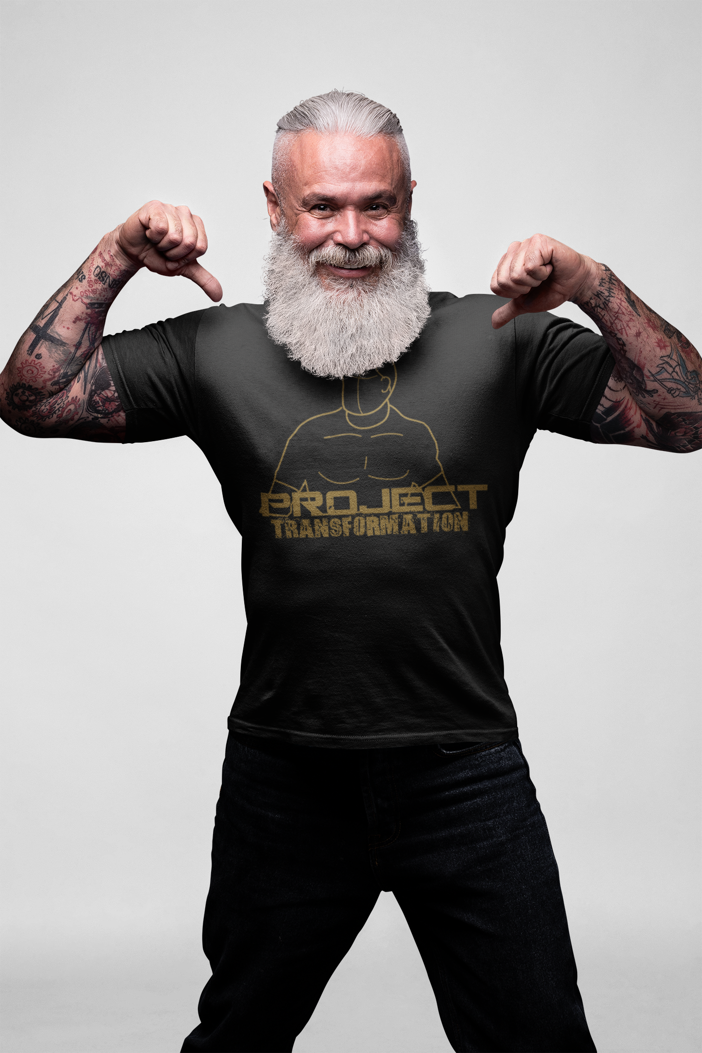 PT Work Out Dri-Power Black/ Gold design