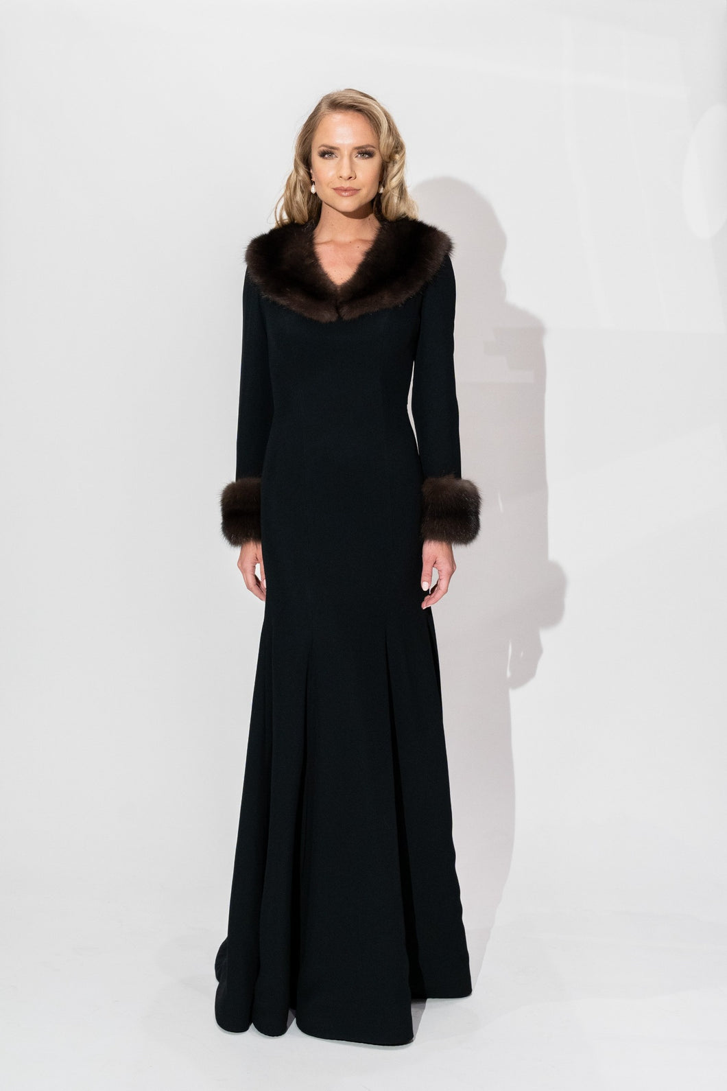 Sable Collared Gown