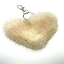 Load image into Gallery viewer, Mink Heart Keychain