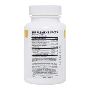 VitalYouth Antioxidant Multivitamin Supplement Facts