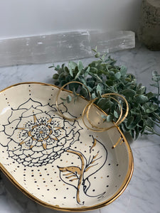 22k Gold Flower Tray