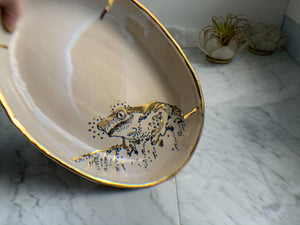 22k Gold Frog Tray