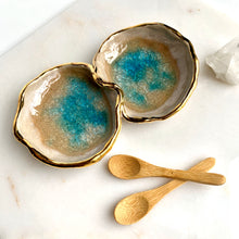 Load image into Gallery viewer, 22k Gold Aqua Spice Bowls - Liza Curtis Studio