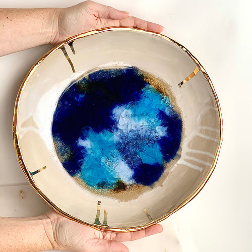 22k Gold Ocean Bowl - Liza Curtis Studio