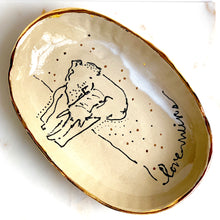 Load image into Gallery viewer, 22k Gold Love Wins Elephant Tray - Liza Curtis Studio