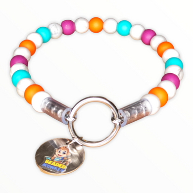The Beaded Monkey - Bedrock Fun Silicone Beaded Dog Collar - Ruff Stitched Winter 2020 Collection - Product Photo of Slip On Collar