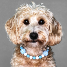 Load image into Gallery viewer, I Love My Mom Silicone Beaded Dog Collar - Portrait of Dog Wearing Collar