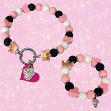 Load image into Gallery viewer, Little Princess Silicone Beaded Dog Collar & Matching Bracelet - Product Photo (Chelsea & Me)