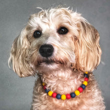 Load image into Gallery viewer, Pooh & Friends Silicone Beaded Dog Collar - Ruff Stitched Winter 2020 Collection - Portrait of Dog Wearing Collar