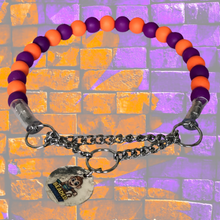 "Load image into Gallery viewer, The Bacon Collection - The ""Extra"" Collar (Purple & Orange)"