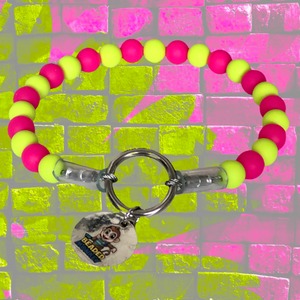 "The Bacon Collection - The ""Extra"" Dog Collar (Pink & Green)"