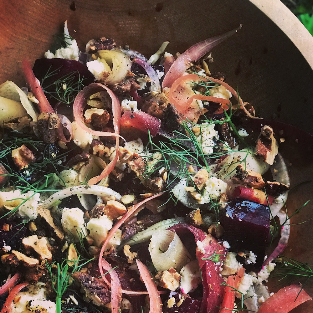 Roasted Beet and Walnut Salad - A vibrant addition to your winter menu!