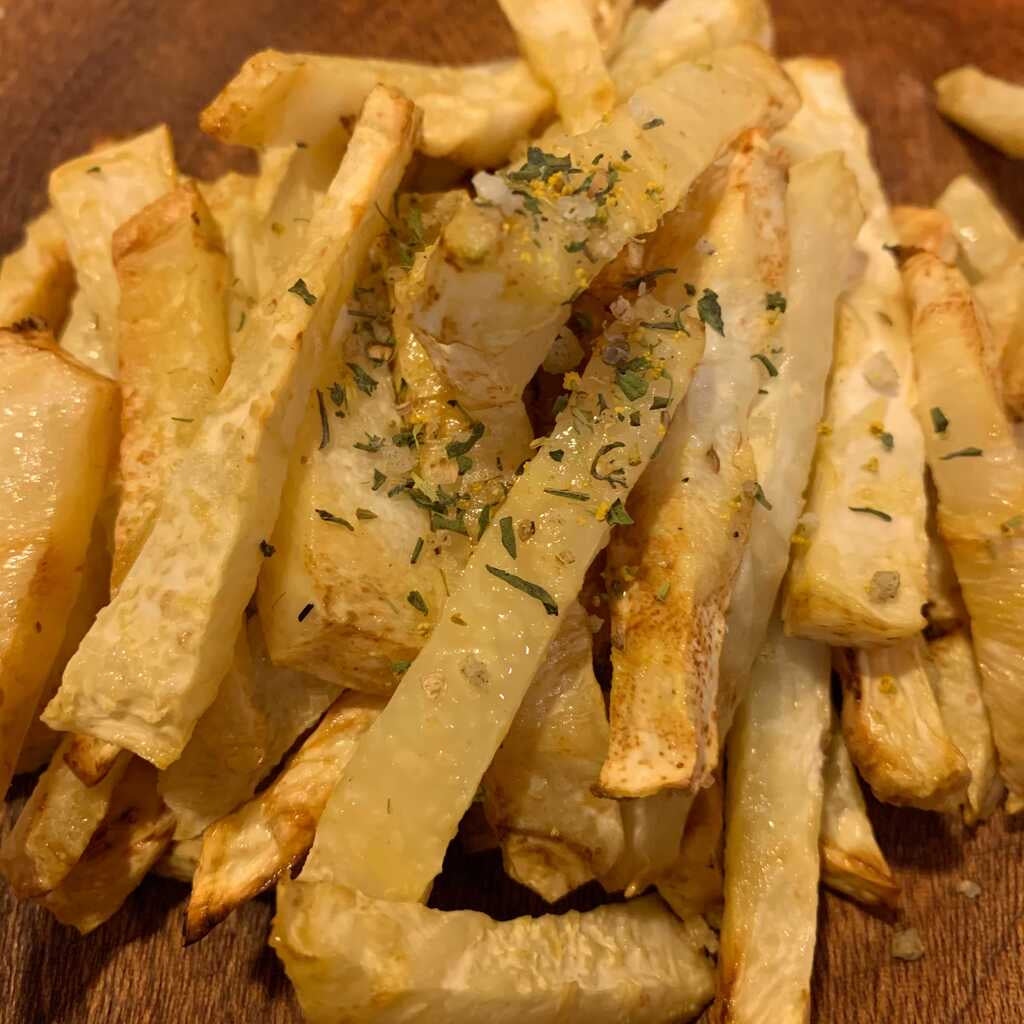 Root Veggie Fries with Fennel Pollen Salt