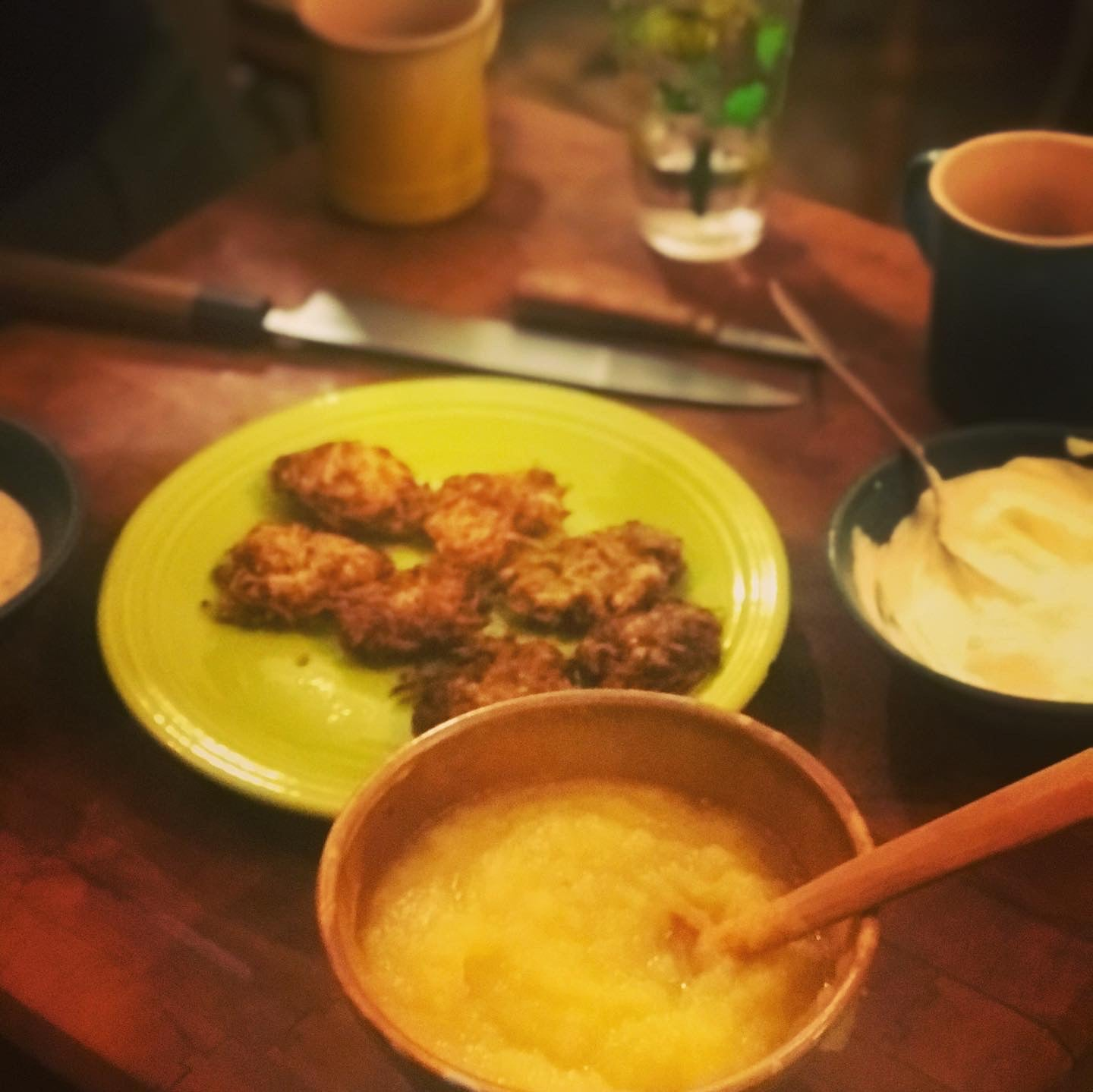 Classic Potato Latkes and Benny's Homemade Apple Sauce