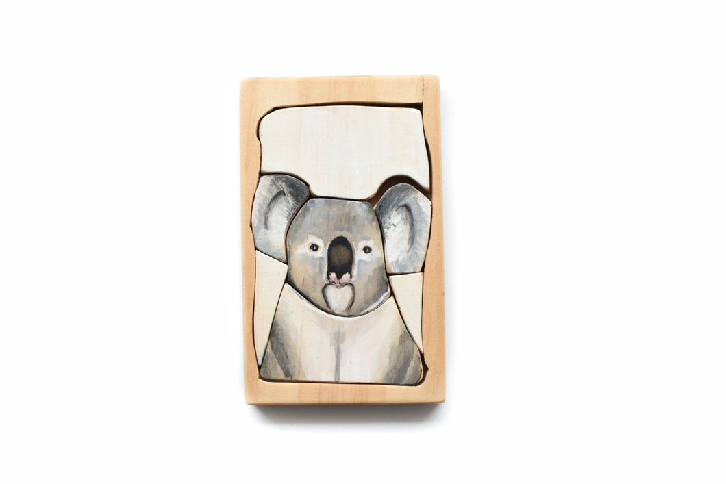 Land of Rhi - Koala Jigsaw  Puzzle - Behind The Trees Wooden Toys