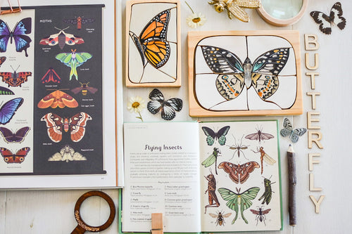 Land of Rhi - Monarch Butterfly Puzzle - Behind The Trees Wooden Toys