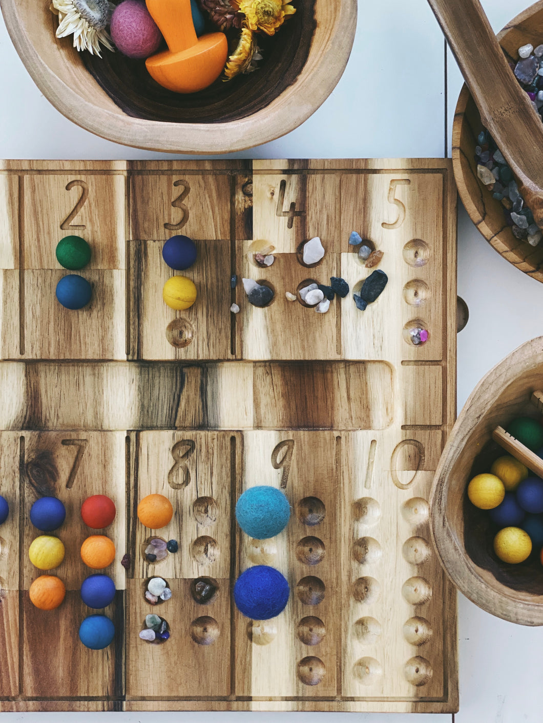 Natural Counting board - Behind The Trees Wooden Toys