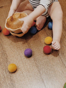 Daisy Bowls Set - Behind The Trees Wooden Toys