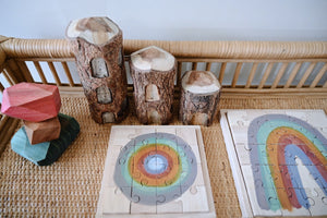 Earth Rainbow Puzzle - Behind The Trees Wooden Toys