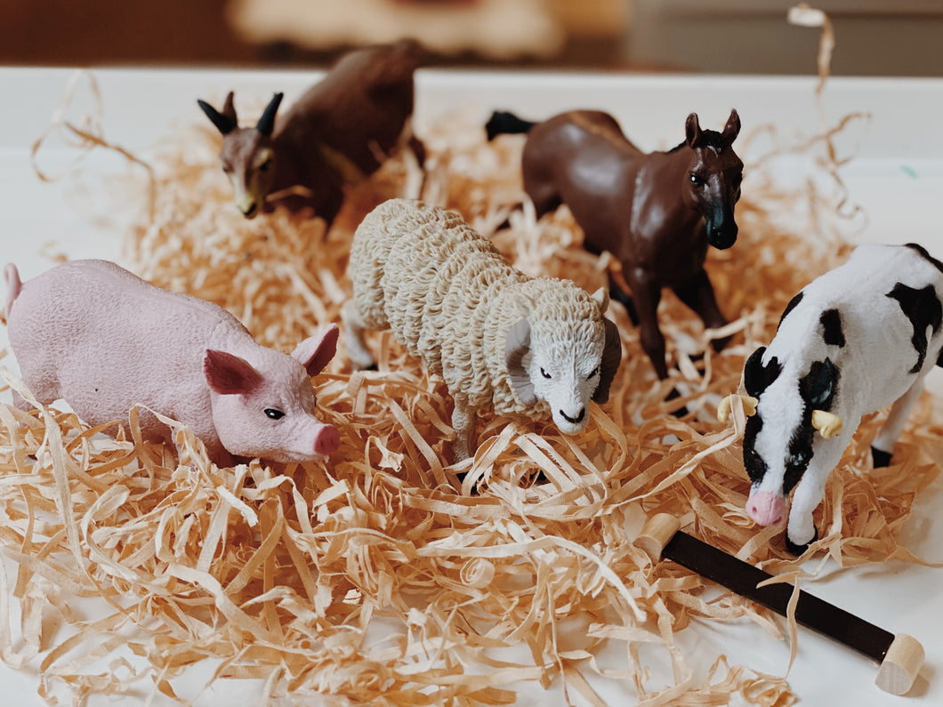 Bag of Farm Animals - Behind The Trees Wooden Toys