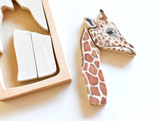 Load image into Gallery viewer, Giraffe Watercolour Wooden Jigsaw Puzzle - Behind The Trees Wooden Toys