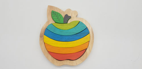 Delicious Apple Puzzle - Behind The Trees Wooden Toys