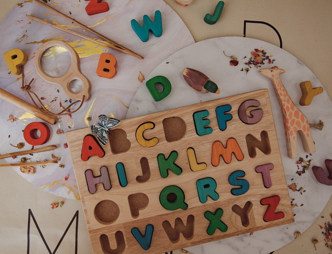Capital Letter Puzzle - Behind The Trees Wooden Toys