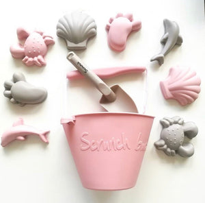 Scrunch Beach Moulds // Dusty Rose - PRE ORDER - Behind The Trees Wooden Toys
