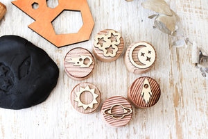 Dough Stampers Space  // Nov Delivery - Behind The Trees Wooden Toys