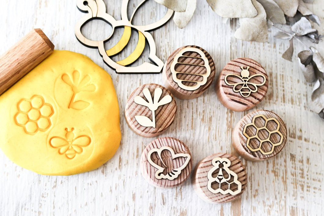 Dough Stampers BEE  // Nov Delivery - Behind The Trees Wooden Toys