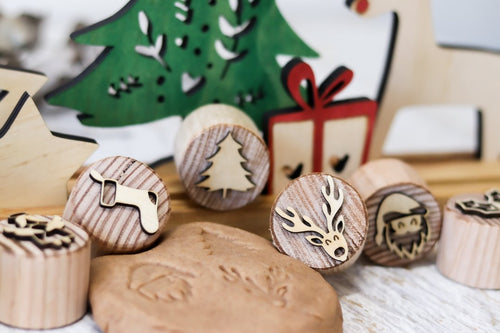 Dough Stampers Christmas // Nov Delivery - Behind The Trees Wooden Toys