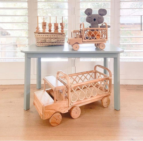 Tiny Harlow SMALL rattan toy truck // Pre Order - Behind The Trees Wooden Toys