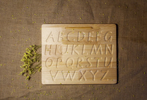 Capital Letter Tracing board - Behind The Trees Wooden Toys
