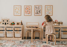 Load image into Gallery viewer, SEASONS // Summer, Autumn, Winter, Spring Art Prints - A4 - Behind The Trees Wooden Toys