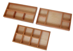 Montessori Sorting Trays set of 3 - Behind The Trees Wooden Toys