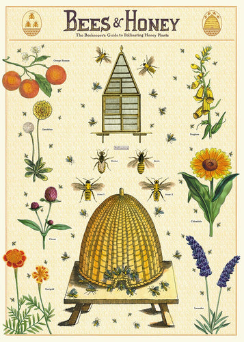 Vintage Posters - Bees & Honey - Behind The Trees Wooden Toys