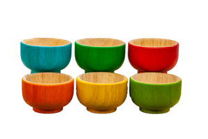 Rainbow Sorting Bowls - Behind The Trees Wooden Toys