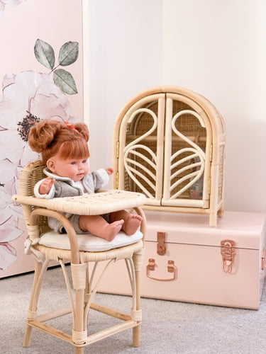 Rattan Doll's Wardrobe // Pre Order - Behind The Trees Wooden Toys
