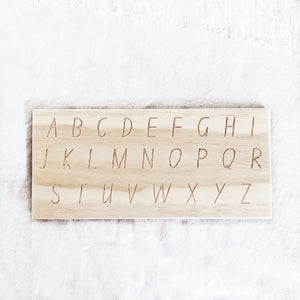 Alphabet Tracing Board - Behind The Trees Wooden Toys