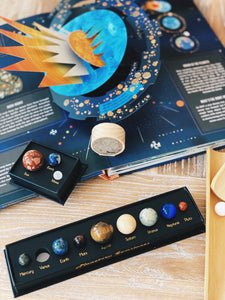 planetary gemstones - cosmic collection - Behind The Trees Wooden Toys