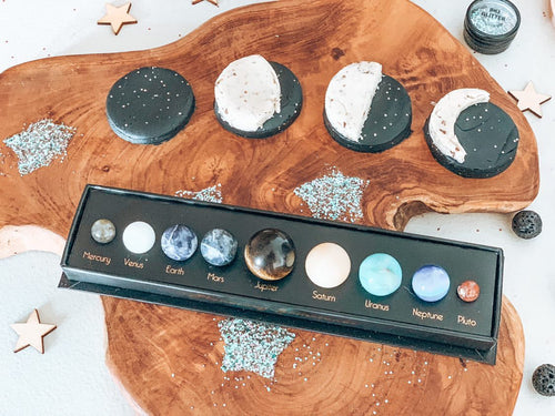 planetary gemstones - solar system - Behind The Trees Wooden Toys
