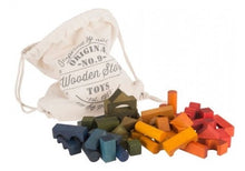 Load image into Gallery viewer, Rainbow Blocks In Sack - 100 pcs // Pre Order - Behind The Trees Wooden Toys