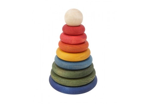 Round Rainbow Stacker // Pre Order - Behind The Trees Wooden Toys