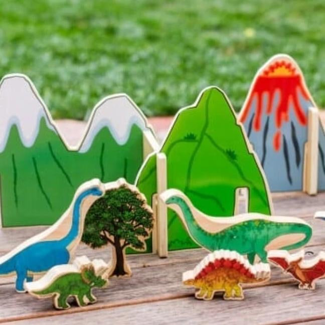 Happy Architect Dinosaur Set - Behind The Trees Wooden Toys