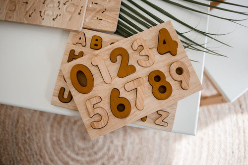 Natural Number Puzzle - Behind The Trees Wooden Toys