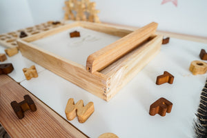 Montessori Sand Tray - Behind The Trees Wooden Toys
