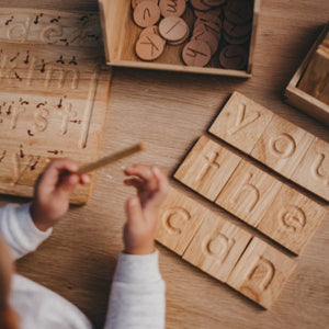 Spelling and Writing Set - Behind The Trees Wooden Toys