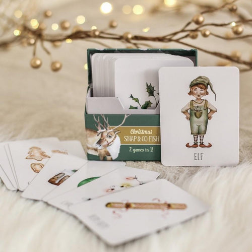 Christmas Snap & Go Fish // Nov Delivery - Behind The Trees Wooden Toys